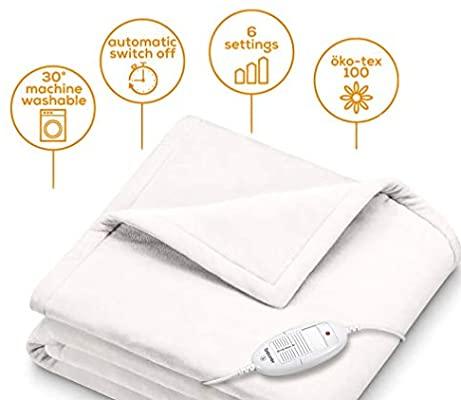 Beurer HD 75 Elektrikli Battaniye Beyaz