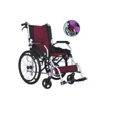 Pulsemed Katlanabilir Sırtlı Alüminyum Tekerlekli Sandalye KY863LAJ-C-20